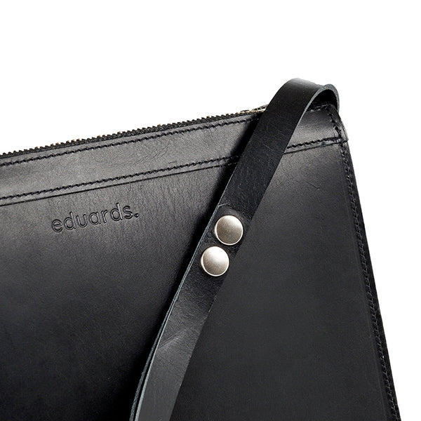 EDUARDS ACCESSORIES | Näver Small Shoulder Bag in Black Leather