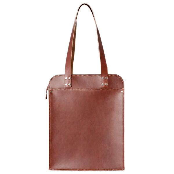 EDUARDS ACCESSORIES | Big Leather Shoulder Bag in brick leather