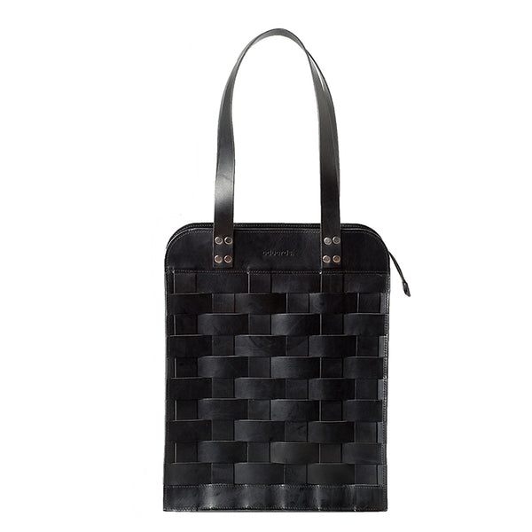 EDUARDS ACCESSORIES | Big Leather Shoulder Bag in balck leather