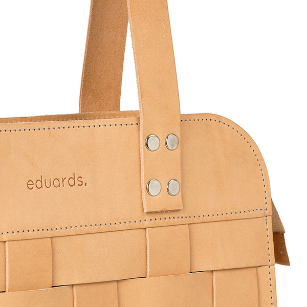 EDUARDS ACCESSORIES | Big Leather Shoulder Bag in nature leather