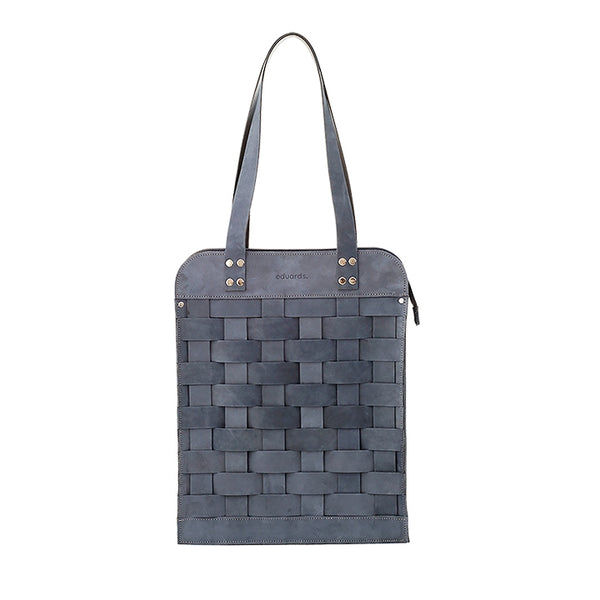 EDUARDS ACCESSORIES | Big Leather Shoulder Bag in dark blue