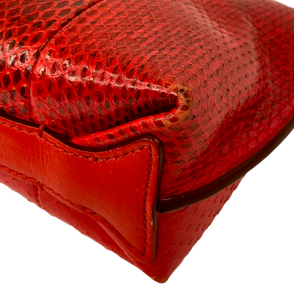 Emilio Pucci small crossbody red python