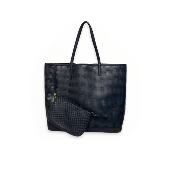 LANCEL leather perforated tote