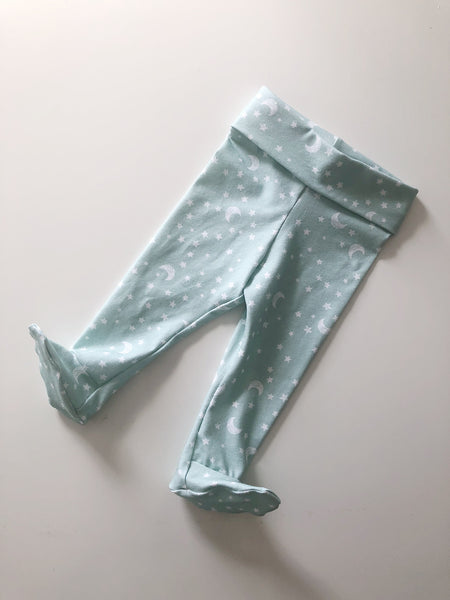 Mint Moon And Stars Leggings