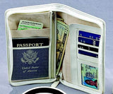 Travel Ticket and Passport Zippered White Case