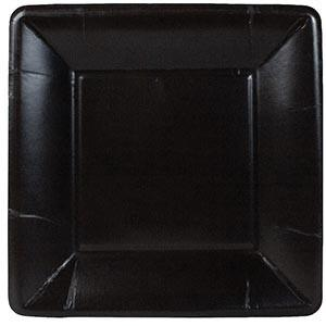 Black Square Dessert Paper Plates by Caspari 24 Ct