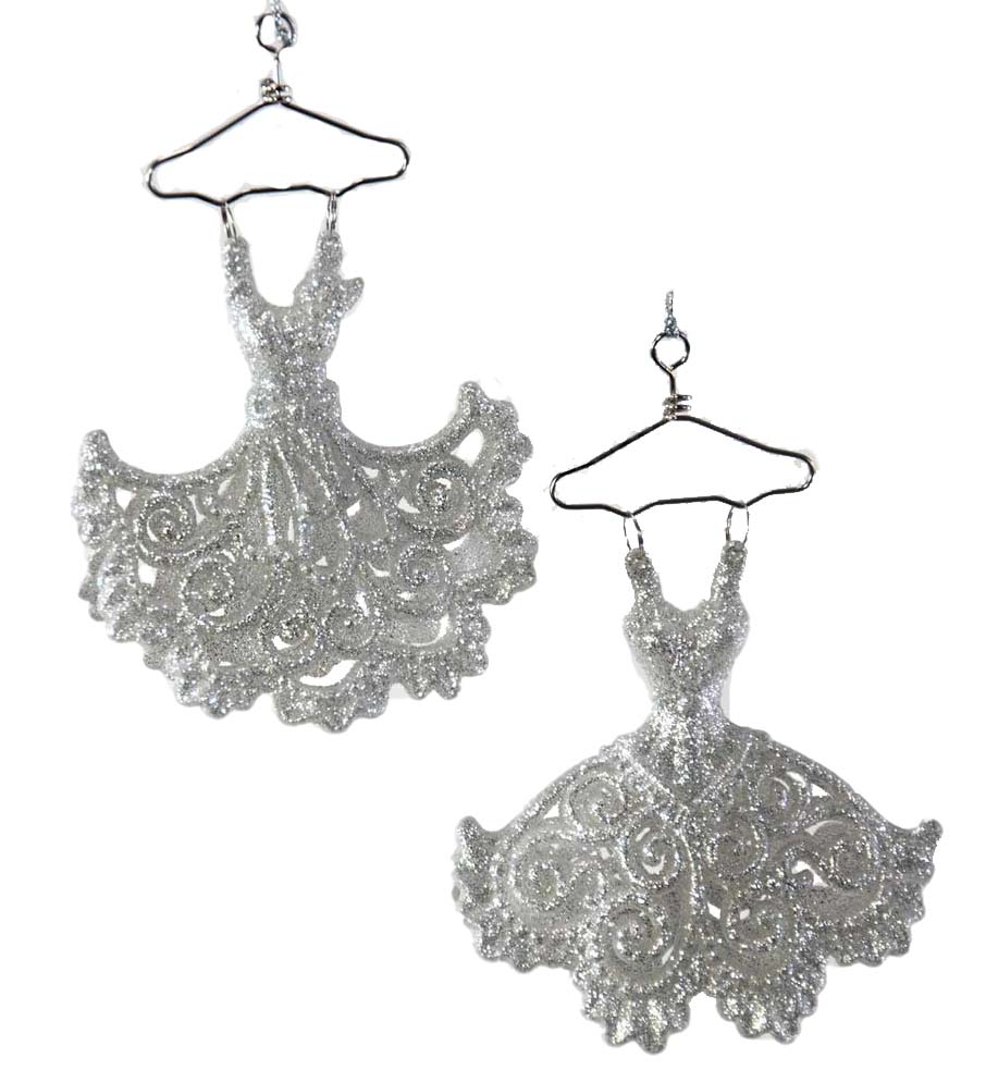 Katherine's Collection Glitter Party Dress Ornaments Set of 2