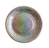"Silver Holographic 4.25"" Canape Paper Plates"