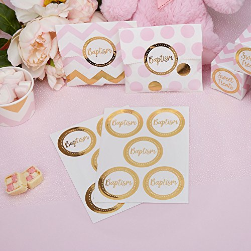 Neviti Pattern Works Gold Foil Baptism Stickers