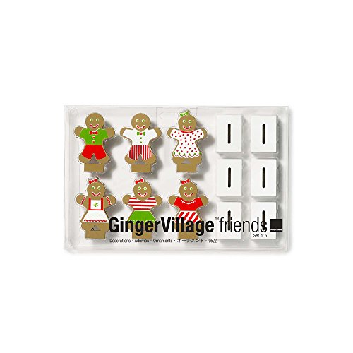 Wooden Gingerbread Figures (Set/6)