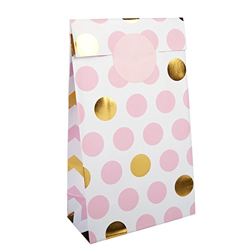 Pattern Works Pink and Gold Foil Party Favor Bags