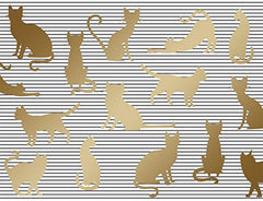 Cat Silhouettes  Blank Note Cards