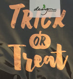 Copper Foil Trick or Treat Black Beverage Paper Napkins