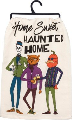 Primitives by Kathy Home Sweet Haunted Home Dish Towel
