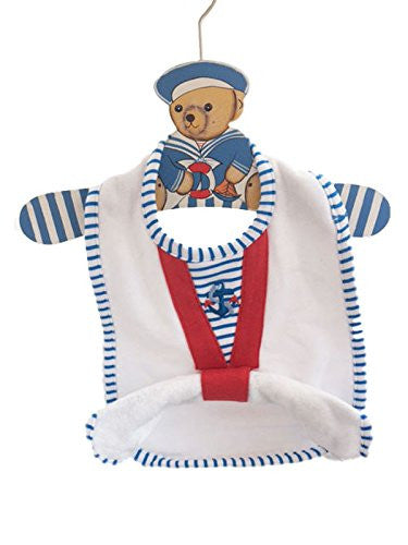 Bear Sailor Baby Bib Hanger Set