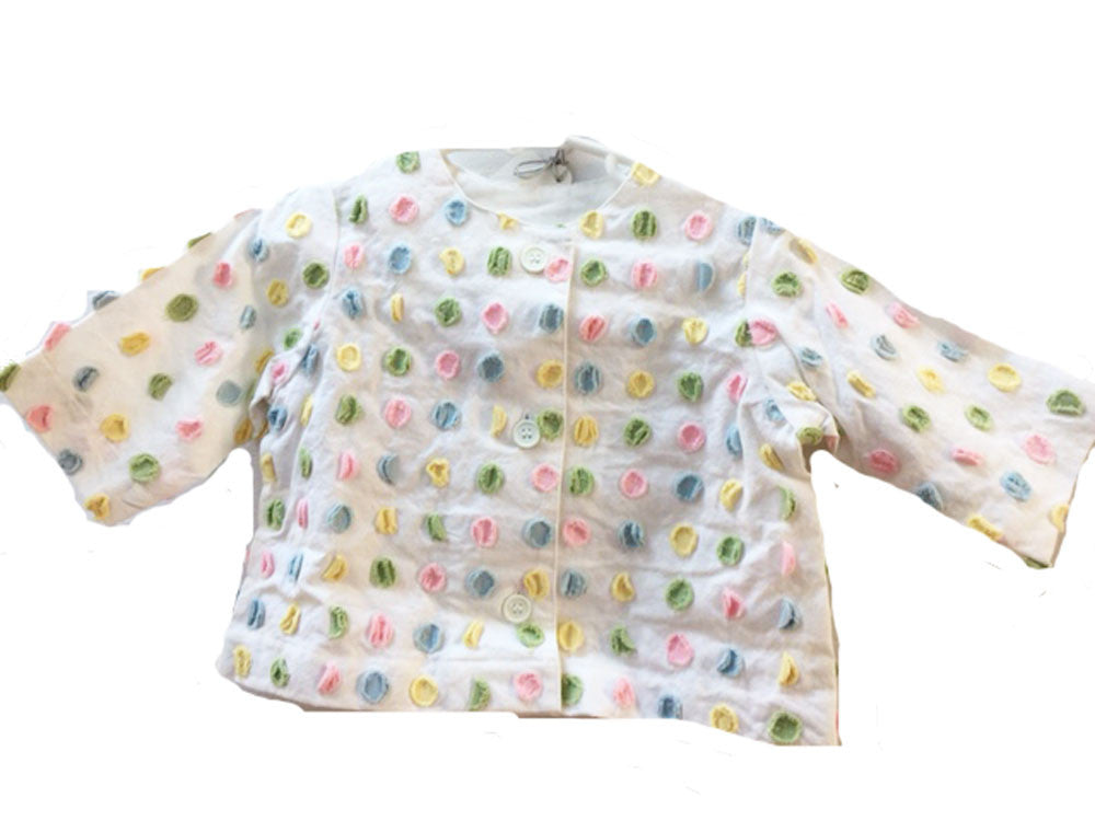 Pastel Color Dotted Chenille Baby Jacket