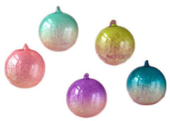 180 Degrees Frosted Ombre Ornaments Set of 5