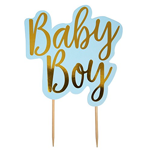 Neviti Pattern Works Baby Boy Blue Cake Topper