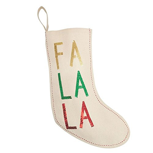 Fa La La or Ho Ho Ho Sequin Christmas Stocking