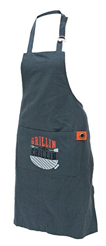 """Grillin N' Chillin"" Chef Apron with Pocket"