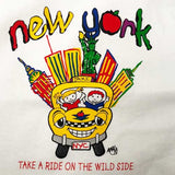 New York City Skyline and Yellow Taxi Kid's Tee Shirt