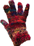Recycled Silk Multicolor Mittens