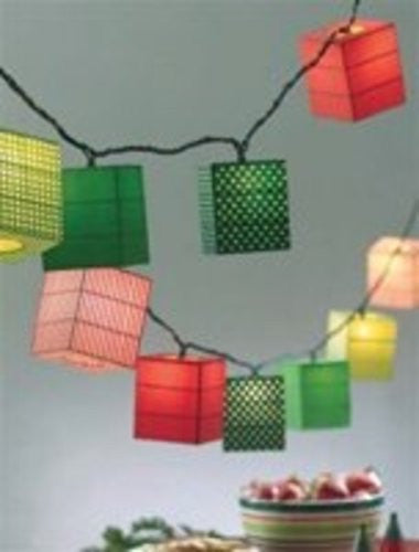Red and Green Lantern String Lights