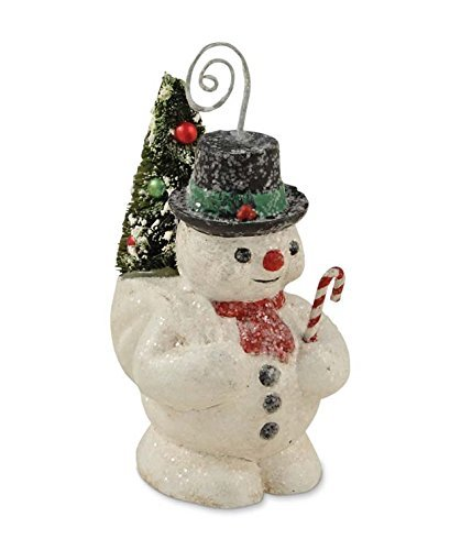 Bethany Lowe Vintage Inspired Snowman Place Card Holder
