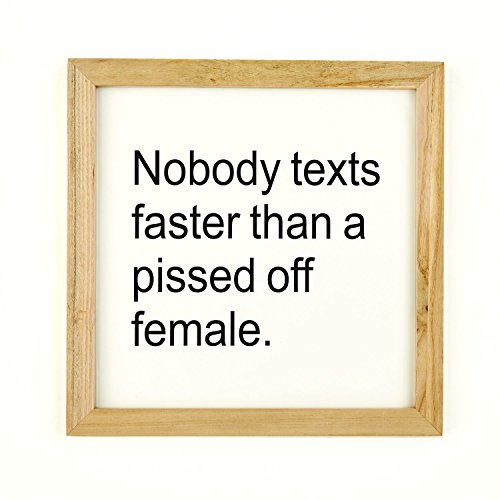 """Nobody Texts Faster Than A Pissed Off Female"" Wall Art"