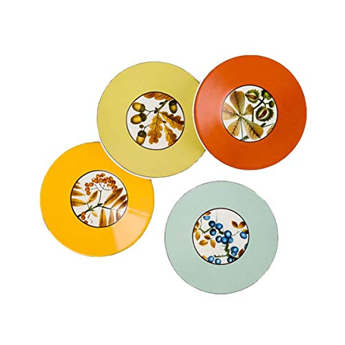 "One Hundred 80 Degrees Harvest 8"" Appetizer Plates (set/4)"