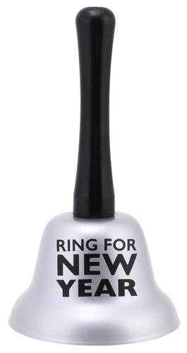 """Ring for New Year"" Silver Call Hand Bell"