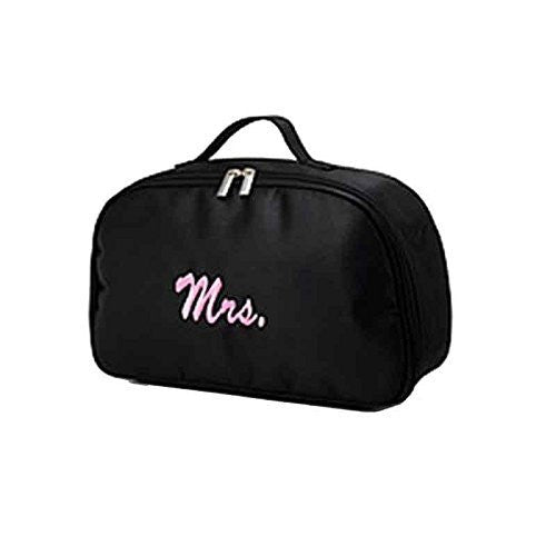 Classy Bride Monogram Mrs. Black Travel Bag