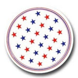 Red and Blue Patriotic Star Dinner Paper Platess
