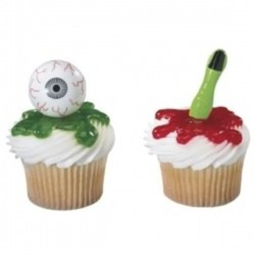 Scary Eyeball and Finger Cupcake Picks - 12ct