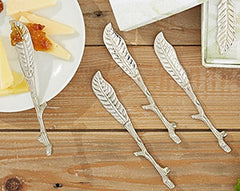 Branch or Vine Design Cheese Spreaders (Set/4)