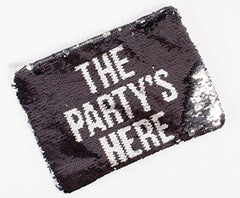"8 Oak Lane Sequin""The Party's Here"" Pouch"