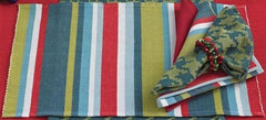 Red Blue Green Stripe Placemat