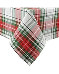 Red and Green Plaid Tablecloth