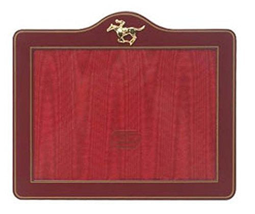 Ruby Red Enamel Horse and Jockey Tabletop Photo Frame