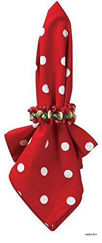 Red and White Polka Dots Napkins (Set/4)