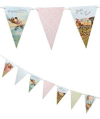 Vintage Style Traveling Chicks Easter Pennant Garland