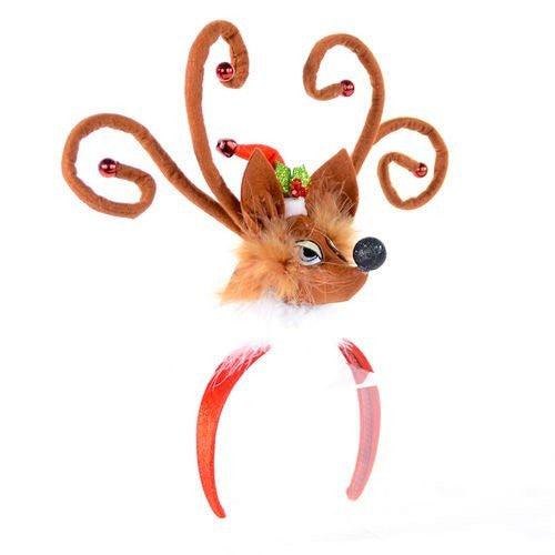 Reindeer Fabric Headband 16""