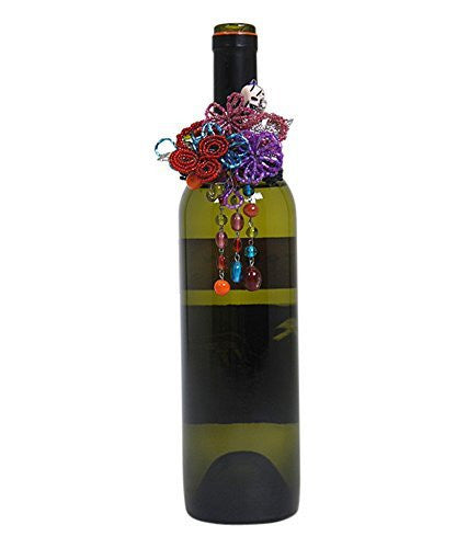 Day of the Dead Beaded Wine Bottle Charm