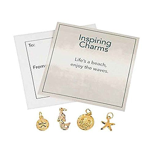 Beach Theme Metal Charms Party Favors (6 ct)