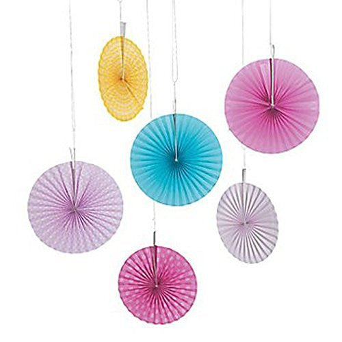 Pink Blue Yellow Hanging Fans
