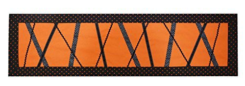 Orange Black Halloween Spider Web Table Runner