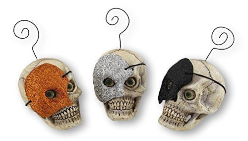 Bethany Lowe Masquerade Skull Ornament/Placecard Holders (Set/3)