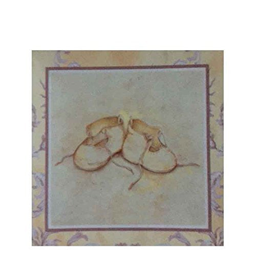 La Boutiqueite Baby Booties Small Notecard and Keepsake Box