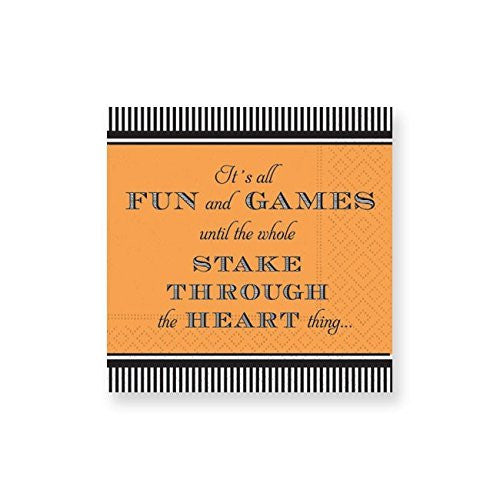Deesign Design Halloween Black Orange Stake Beverage Napkins