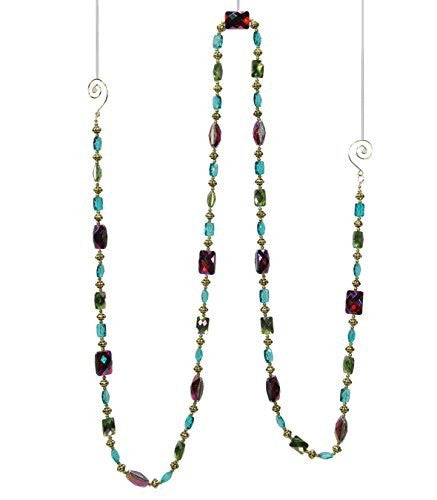 Teal, Purple, Green Jewel Garland 6 Ft.
